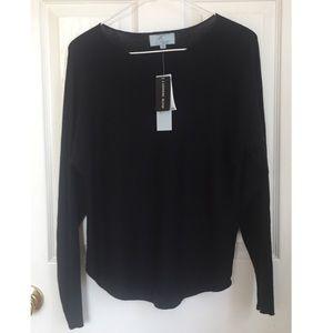 ❄️NWT Joan Vass Cashmere Blend Sweater Black XS❄️